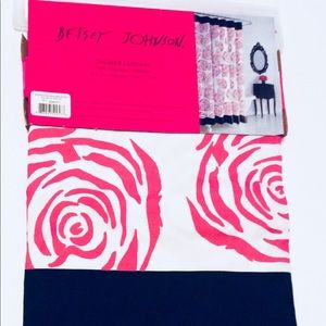 Roses Betsey Johnson Fabric Shower Curtain Bath